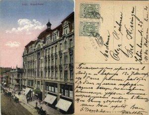 poland, ŁÓDŹ LODZ, Grand Hotel (1921) Postcard