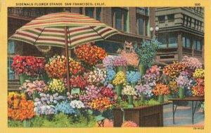 Postcard Flower Stands San Francisco California