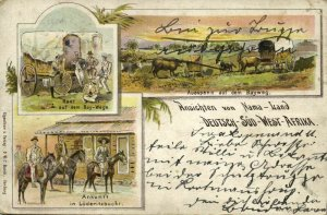 German South West Africa, LÜDERITZBUCHT, Views of Namaland (1900s) Postcard
