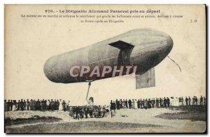 Old Postcard Jet Aviation Airship German Parseval taken departing Zeppelin