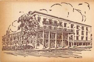 Lebanon, Ohio, OH, Golden Lamb, Hotel, Oldest in Ohio, Vintage Postcard c3768