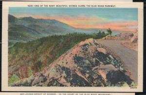 Virginia colour PC Beautiful Scene along Blue Ridge Parkway unused