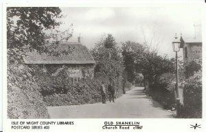 Isle of Wight Postcard - Old Shanklin - Church Road c1867   U831