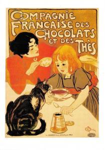 Postcard Compagnie Francaise Des Chocolats Et Des Thes Repro Advert Card F31