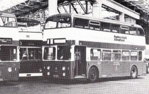 1962 Nottingham Daimler Fleetline Bus Parliament Garage Rare Transport Postcard