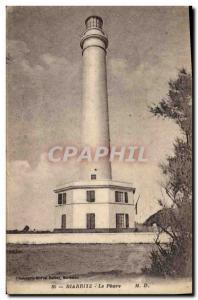 Old Postcard Lighthouse Biarritz