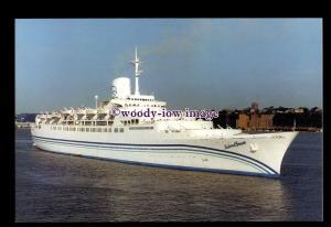 SIM0395 - Dolphin Cruises Liner , Island Breeze ,built 1961 ex S.A Vaal postcard