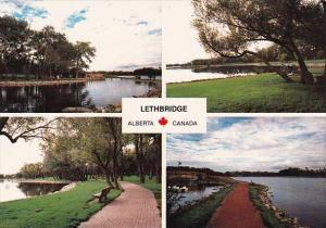 Canada Henderson Lake Located In The Southeast Section Of The City Lethbridge...