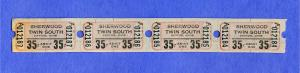 4 Sherwood Twin Drive-In Movie Theatre Tickets, Dayton, Ohio/OH, 1960's?, #2