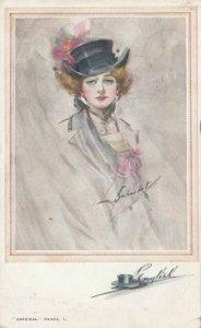BARRIBAL, PU-1913; Woman wearing Top Hat