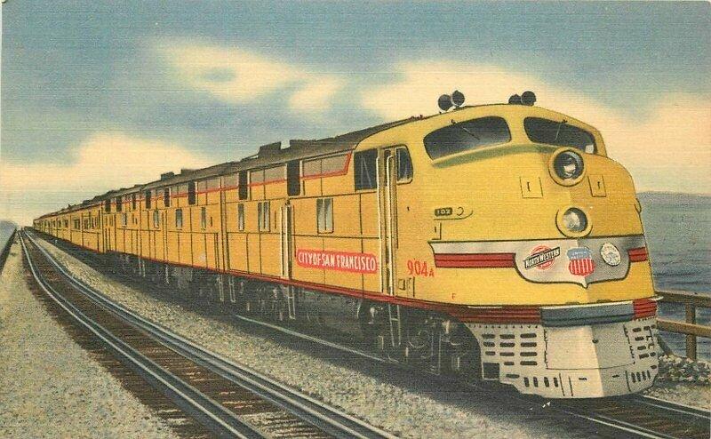 Great Salt Lake Streamliner San Francisco linen Postcard Tichnor 11802