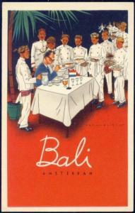 artist signed JAN LAVIES, Bali Amsterdam Restaurant (1950s) (1)