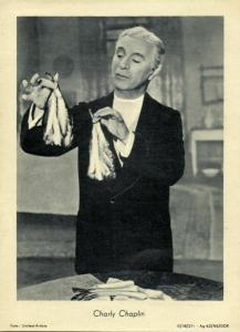 English Silent Film Actor Charlie Chaplin (1950s)