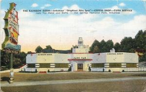 Hot Springs AR~Art Deco Jack Tar Hotel & Baths~Rainbow Room Nite Spot 1949