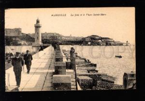 031301 LIGHTHOUSE in MARSEILLE FRANCE Vintage PC