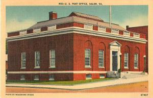 Post Office Salem Virginia VA, Linen
