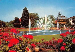 Bad Kissingen Rosengarten Brunnen Fountain Flowers Fleurs