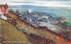 Quebec City Quebec~Dufferin Terrace~Crowd~Carnival Tent~Private Post Card