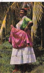 Martinique Beautiful Girl In Native Dress 1966