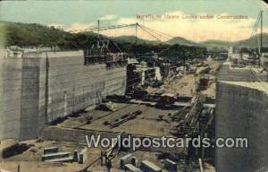 Republic of Panama, República de Panamá Construction Miraflores Upper Locks