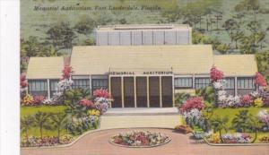 Florida Fort Lauderdale Memorial Auditorium 1952