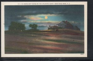 North Carolina colour pc Moonlight near Nags Head, N.C unused