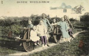 china, Native Chinese Wheel Barrow (1910s) Postcard