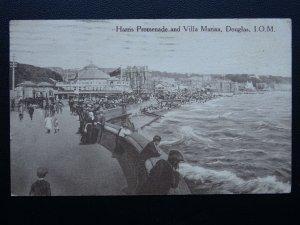 Isle of Man DOUGLAS Harris Promenade & Villa Marina c1920's Postcard by M&L