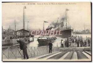Old Postcard Boat Le Havre output of the & # basin 39Eure the Transatlantic R...