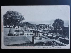 c1904 Keighley: The Terrace, Devonshire Park - showing bandstand