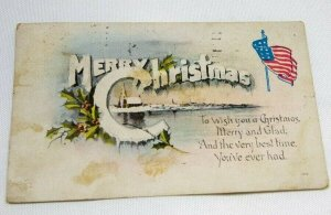 1919 Merry Christmas Postcard with small poem on front. Series No. 154 POSTED