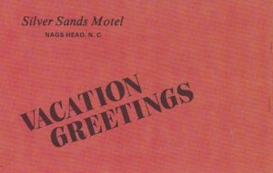 NAGS HEAD, North Carolina, 1940-60s; Silver Sands Motel Greetings
