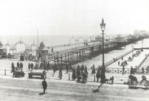 Vintage Reproduction Postcard, Brighton Pier 1901, East Sussex 98R