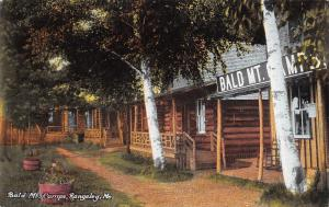 Rangeley ME Birch Trees Before Log Cabins @ Camo Grounds of Bald Mountain c1910