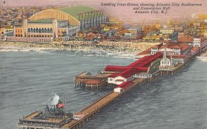 Auditorium and Convention Hall, Atlantic City, N.J., postcard, used in 1958