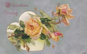 ST. VALENTINE'S DAY; Greeting, Yellow Roses, 00-10s