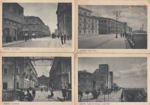Taranto Italy Via D'Aquino Viale Virgilo 4x Old Postcard s
