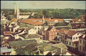 suriname, PARAMARIBO, Partial View (1960s)