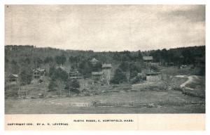 Massachusetts East Northfield , Aerial View of Rustic Ridge