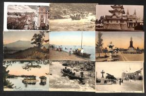 Japan with better lot 16 vintage postcards