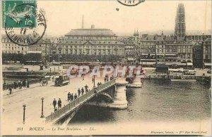 Old Postcard Rouen Le Pont Boieldieu Tramway
