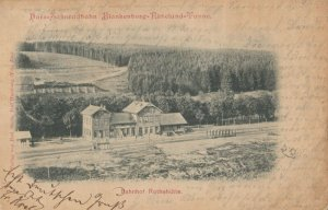 Rothemuhle , Lower Saxony , Germany , 1899 ; Bahnhof ; Railroad train Station