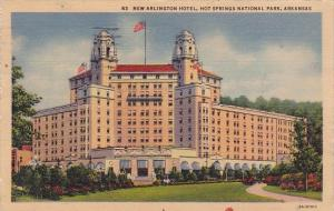 Arkansas Hot Springs National Park New Arlington Hotel 1937