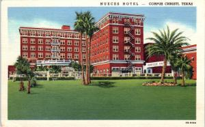 CORPUS CHRISTI, TX Texas    NUECES   HOTEL     c1940s   Linen    Postcard