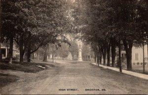 Maine Bridgton High Street 1910