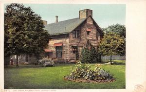 Detroit Michigan~Palmer Park-Log Cabin~Garden in Yard~1905 Postcard
