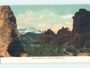 Pre-1907 SEAL AND BEAR ROCKS Pikes Peak - Manitou & Colorado Springs CO A1564