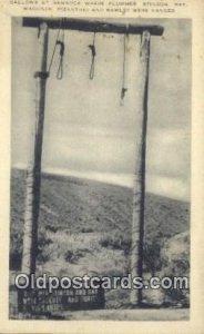 Mexican War, Gallows at Bannock Plummer, Stinson, Ray, Wagoner, Pizanthjo, Ra...