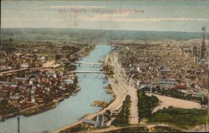Rouen Vue generale vers la Seine