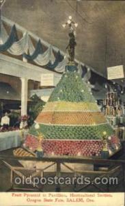Fruit Pyramid 1909 Alaska - Yukon Pacific Exposition Seattle Washington, USA ...